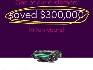 They saved around $300,000 over ten years.