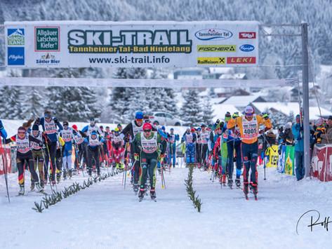 SKI-TRAIL Tannheimer Tal - Bad Hindelang trotz schwieriger Bedingungen ein Langlauf-Spektakel
