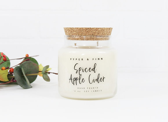 Spiced Apple Cider 22 oz Apothecary Jar Candle