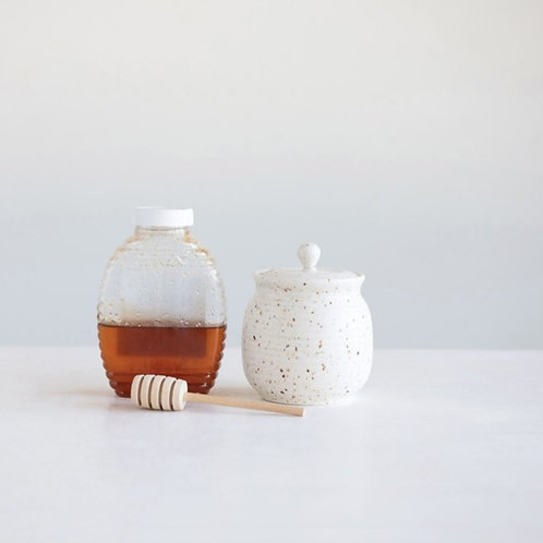 Honey Jar w/Wood Dipper