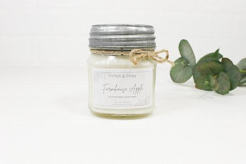 Farmhouse Apple 8 oz Mason Jar Candle
