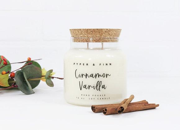 Cinnamon Vanilla 22 oz Apothecary Candle