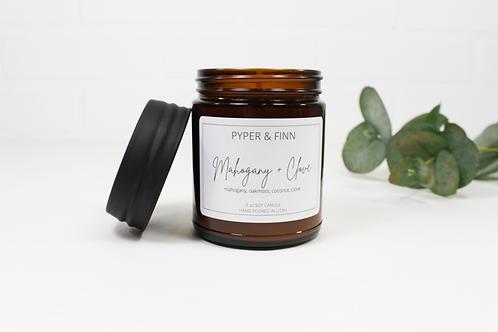 Mahogany + Clove 9 oz Soy Candle