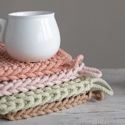 Cotton Crocheted Potholder Set of 4