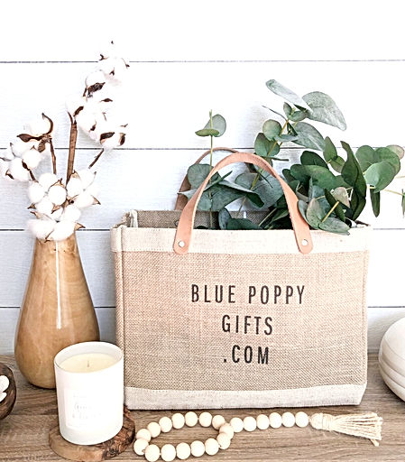 Blue Poppy Gifts and candle