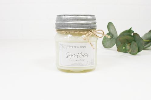 Sugared Citrus 8 oz Mason Jar Candle