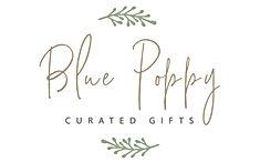Blue Poppy Logo tan and green 2021 copy.