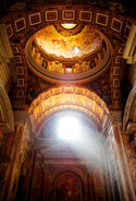 St Peter's Basilica. Rome, Italy