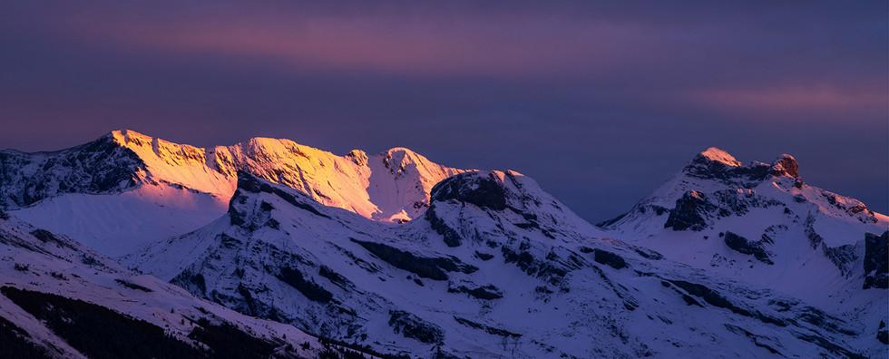Alpenglow. Valais, Switzerland