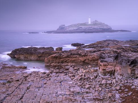 Godrevy Lighthouse. Cornwall, UK
