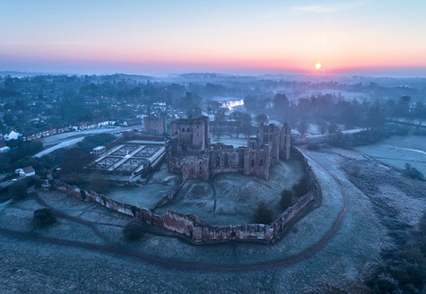 Kenilworth Castle at sunrise. Warwickshire, England