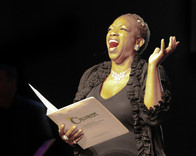 Desiree Roots Centeio as Queen Helene, Croaker staged reading.  Photo by Tom Topinka.