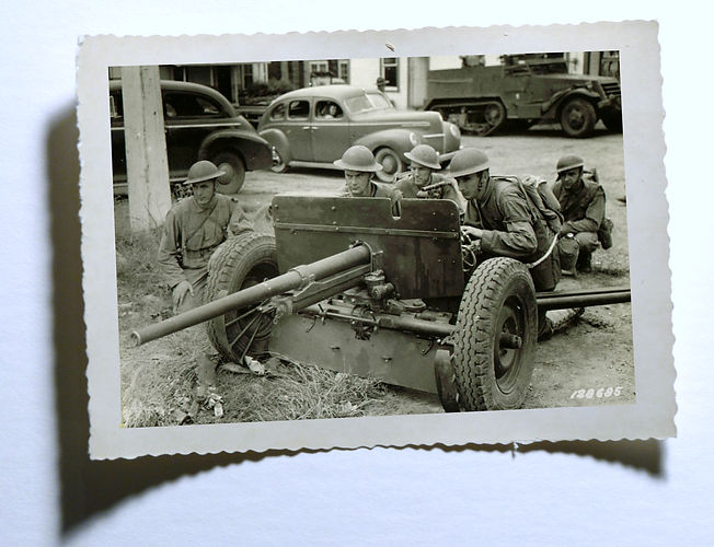 37mm towed antitank gun M3 tank destroyers General McNair photo enhancement by Robert Coldwell Sr.