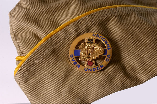 "US Cavalry 1/104th Cavalry WWII Overseas Cap ""Over Under or Through"" photo by Robert Coldwell Sr."