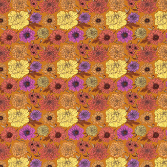 Commission for a 70s floral wallpaper inspired pattern to be made into a costume.