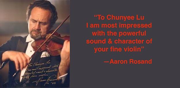 Aaron Rosand | Guadagnini Violin Shop | www.guadagniniviolins.com | Chicago