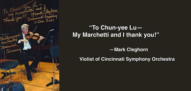 MARK CLEGHORN | Guadagnini Violin Shop | www.guadagniniviolins.com | Chicago