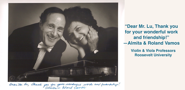 Roland Vamos & Almita Vamos   Guadagnini Violin Shop   www.guadagniniviolins.com   Chicago
