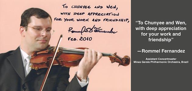 ROMMEL FERNANDES | Guadagnini Violin Shop | www.guadagniniviolins.com | Chicago
