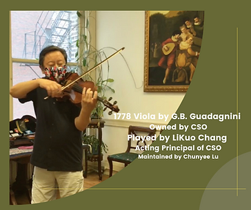 1778 Viola by G.B. Guadagnini,  Owned by  Chicago Symphony Orchestra,  Played by  Li-Kuo