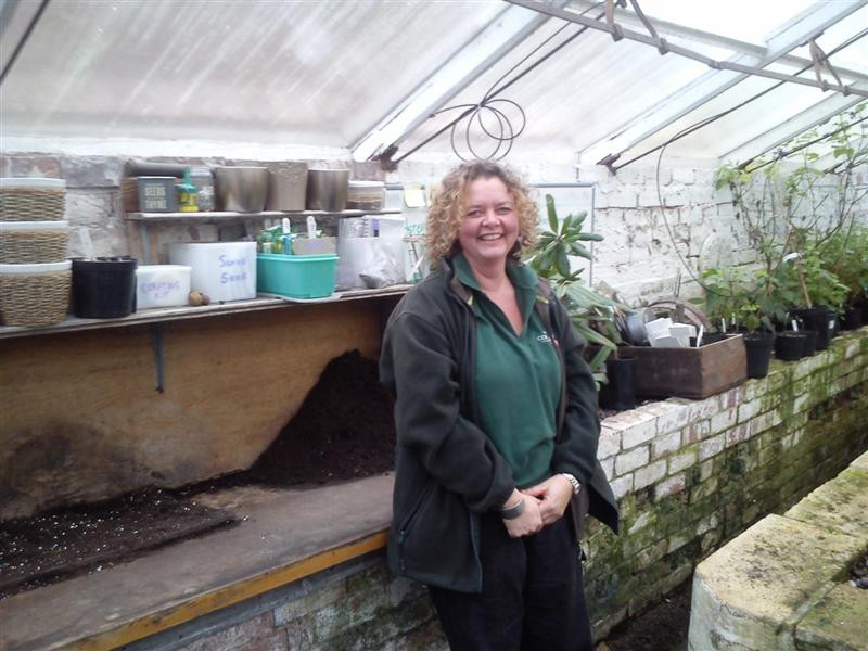 Claire Howard in greenhouse(Medium)