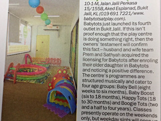 "Babytots@play is on ""Time Out Malaysia Kids"", 3rd September 2015"