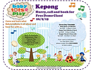 Babytots@play is opening on 26th September 2015 in Kepong