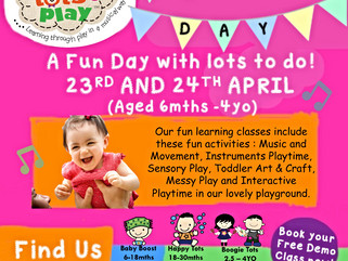 Annual Open Day @ Babytots@play , 23rd & 24th April 2016