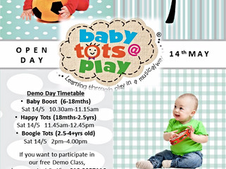 Babytots@play is opening new centre in Aman Suria Petaling Jaya, 14th May 2016