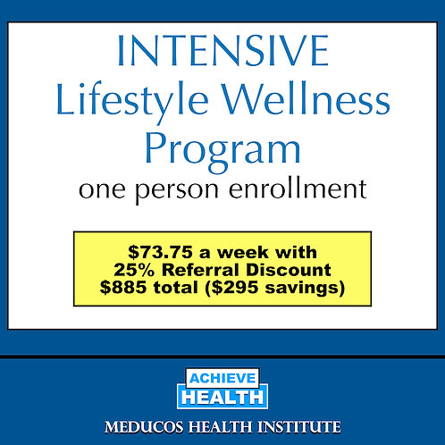 INTENSIVE Lifestyle Wellness Program - One Person