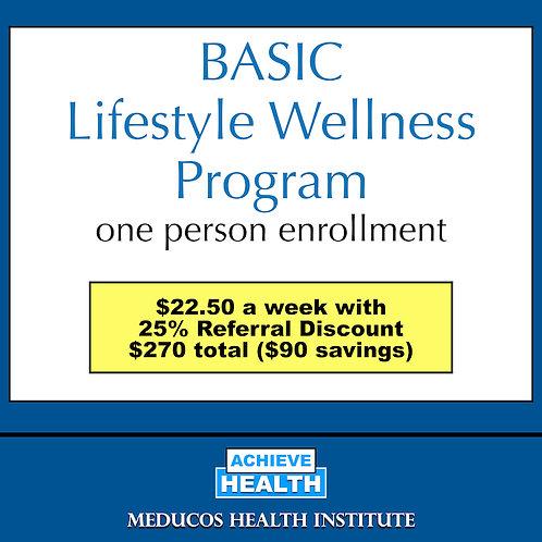 BASIC Lifestyle Wellness Program - One Person