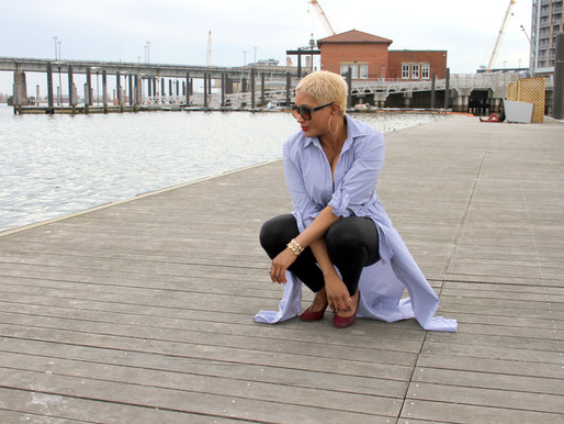 Pixie Luvs, Pre-spring look. Sitting on the dock of the Bay.
