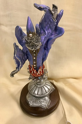 """Masterworks Fine Pewter """"Keeper of the Fire Lamp"""" Peter C. Sedlow Figurine"""