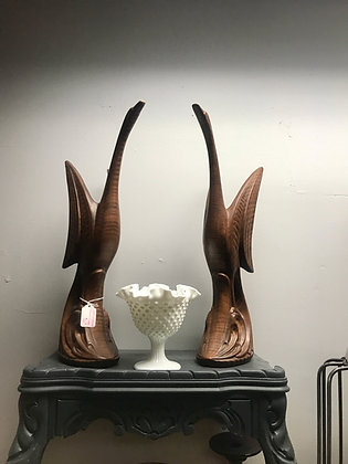 Mid-Century Modern Ceramic Geese Pair