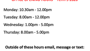 OFFICE OPENING HOURS