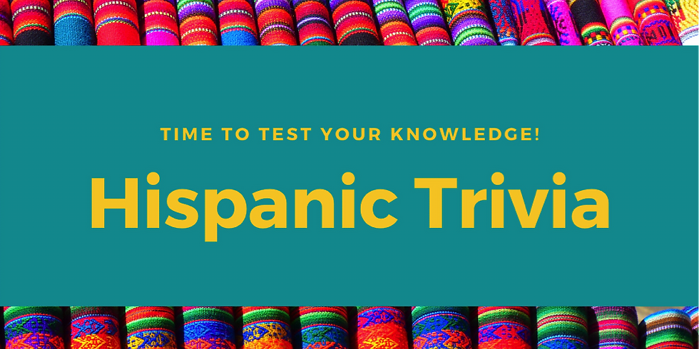 ONLINE Hispanic Trivia - Test your knowledge - in English