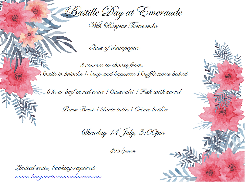 Bastille Day at Emeraude - Hampton by Bonjour Toowoomba