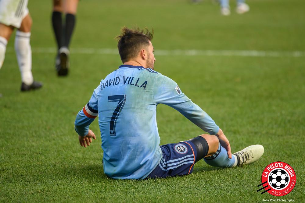 David Villa, pidiendo falta