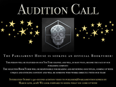 Calling All Booktubers!!! Audition Call: Do You Have What It Takes?