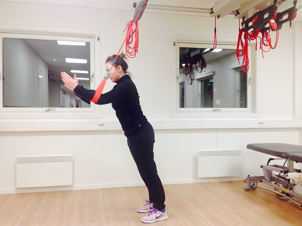 Standing Superman Exercise with Redcord Slings
