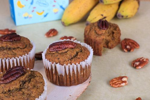 Banana Pecan Muffins (box of 4) KARACHI ONLY