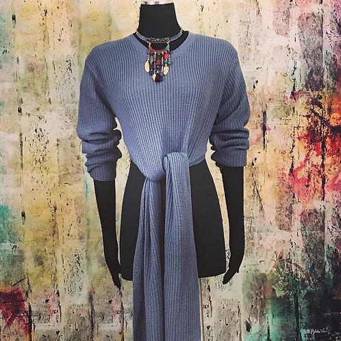 Long Front Split or Tie Sweater