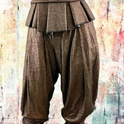Gold Metallic Herem Pants