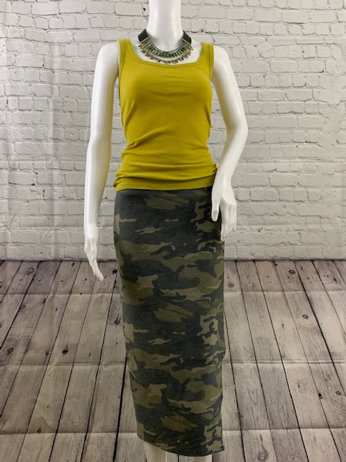 Camouflage Pencil Skirt