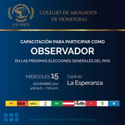 Invitacion Observadores Elecciones La Esperanza