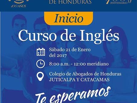 El colegio de Abogados de Honduras invita a todos sus agremiados, al Inicio del Curso de Ingles en l
