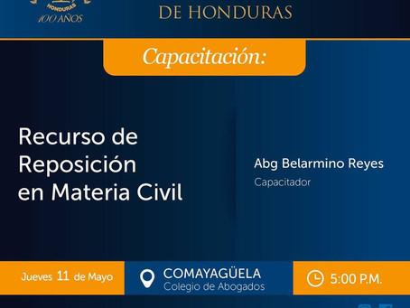 El Colegio de Abogados de Honduras y El Centro de Capacitación invitan: a todos los Abogados, Estudi