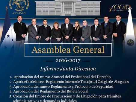 Asamblea Ordinaria 30 de Abril de 2017