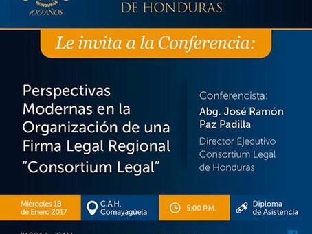 El colegio de Abogados de Honduras invita a todos sus agremiados, Estudiantes de Derecho y Público e