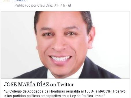 JOSE MARÍA DÍAZ @chemadiaz007  20 hHace 20 horas Más  El Colegio de Abogados de Honduras respalda a